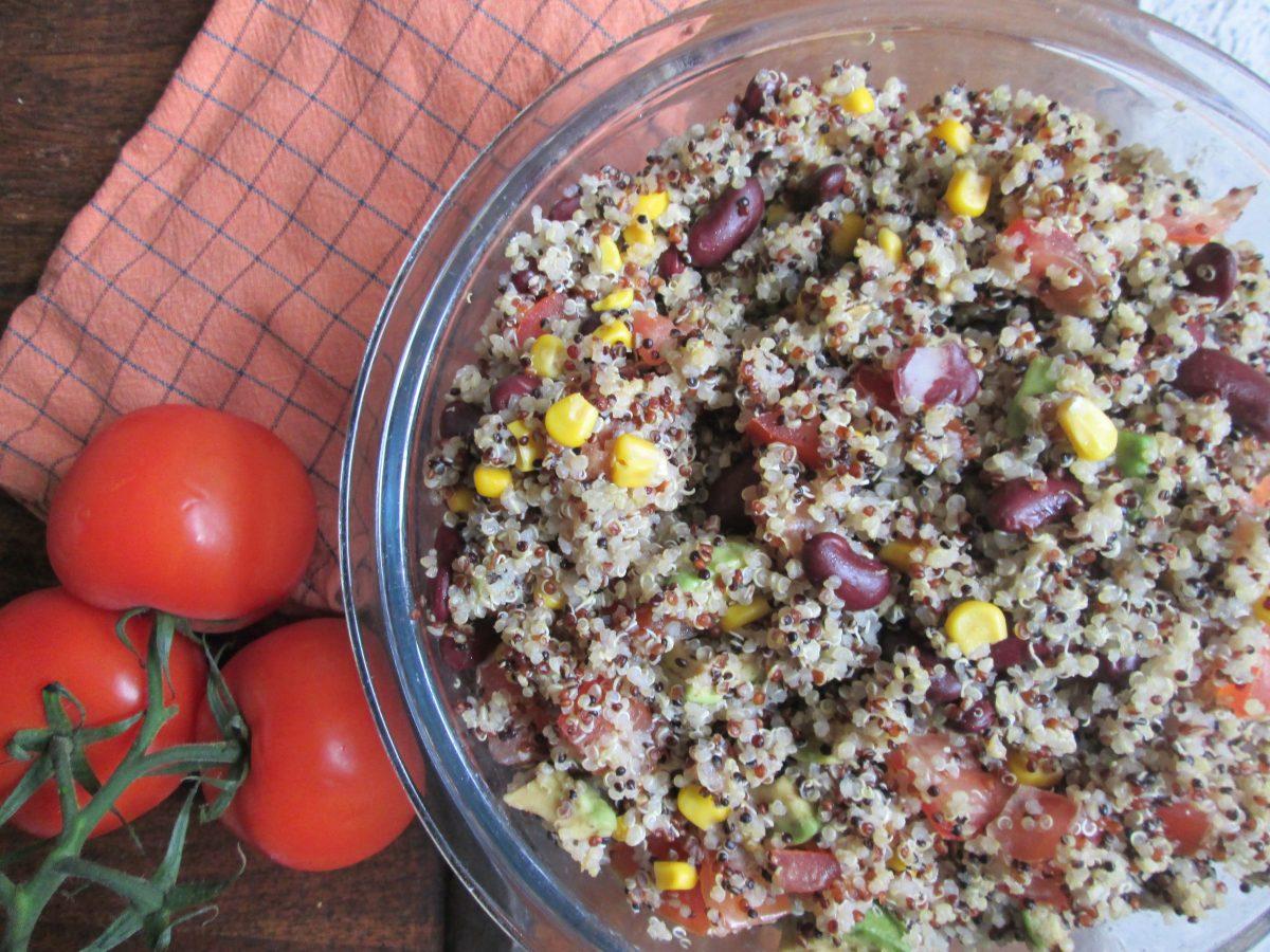 Vegan and zero waste recipe: Quinoa salad