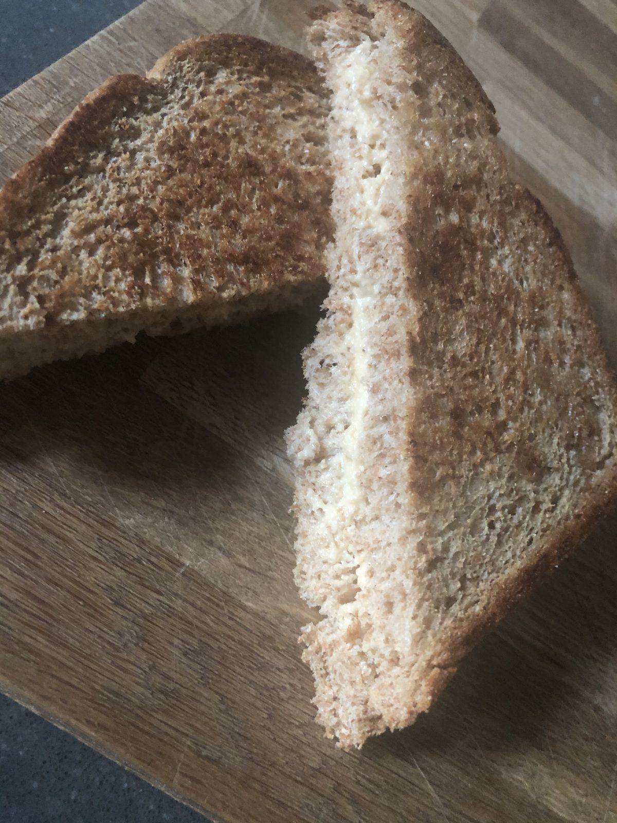 2 Ingredient Vegan grilled 'Cheese' Sandwich