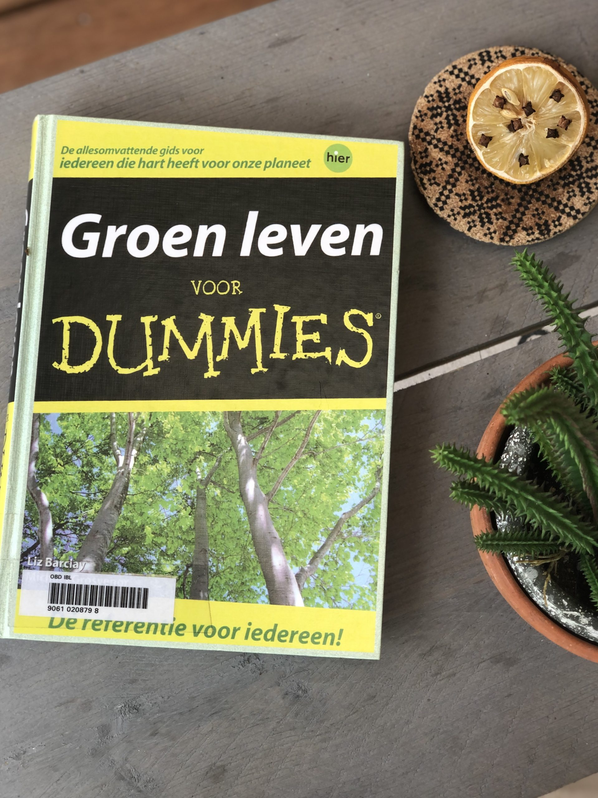 Book about sustainable choices: Green Living for Dummies